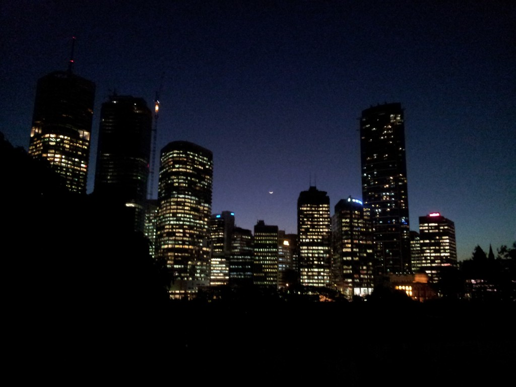New Moon over Brisbane