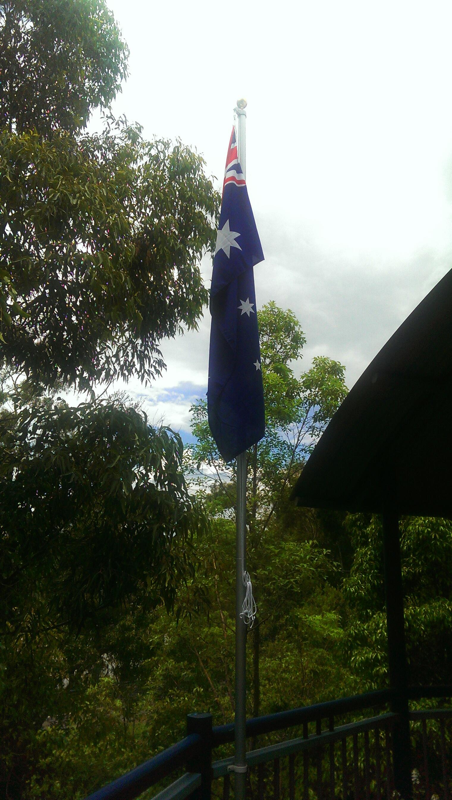 Australian Flag on flagpole